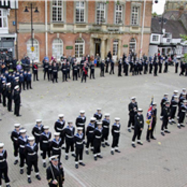 Cadets march through Evesham
