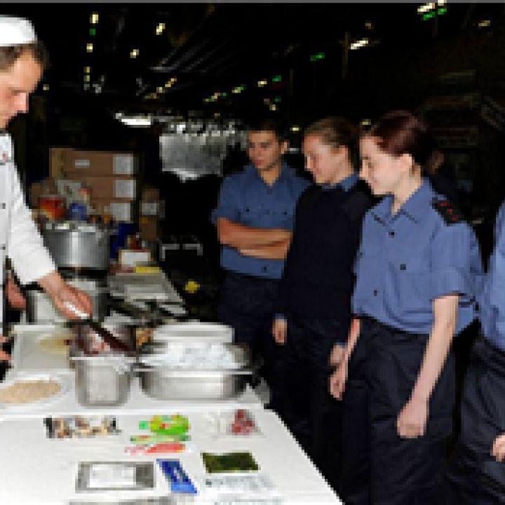 Stockport Sea Cadets aboard HMS Bulwark