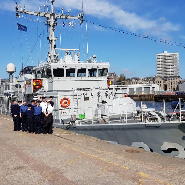 TS SCYLLA Welcomes NATO SNMCMG1 to Aberdeen