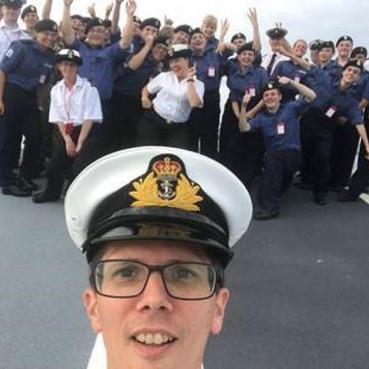 Sea Cadets On Board HMS Queen Elizabeth