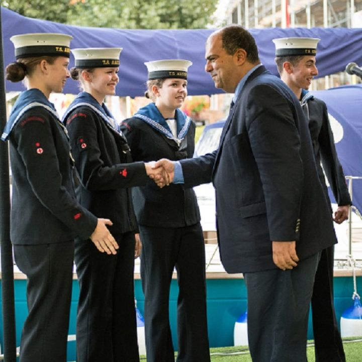 Naming and commissioning of TS Sir Stelios