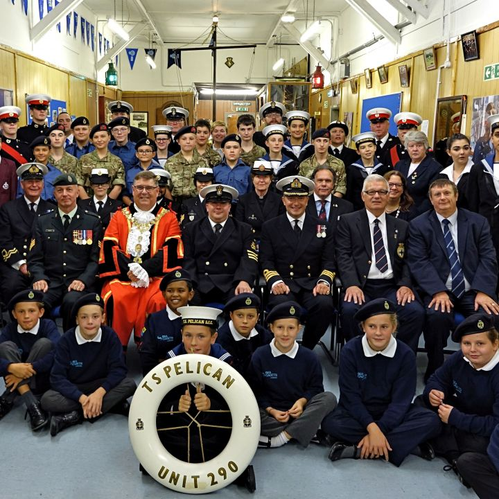 Ruislip Unit's Royal Naval Parade took place on Monday, 24 September. Guest of honour was Councillor John Morgan, Mayor of Hillingdon who was accompanied by his wife, the Mayoress. 5 representatives of Canadian Support Forces based locally in London also
