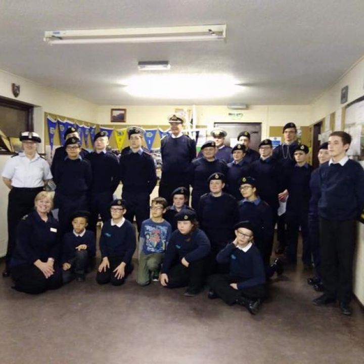 Captain of the Sea Cadets Visit