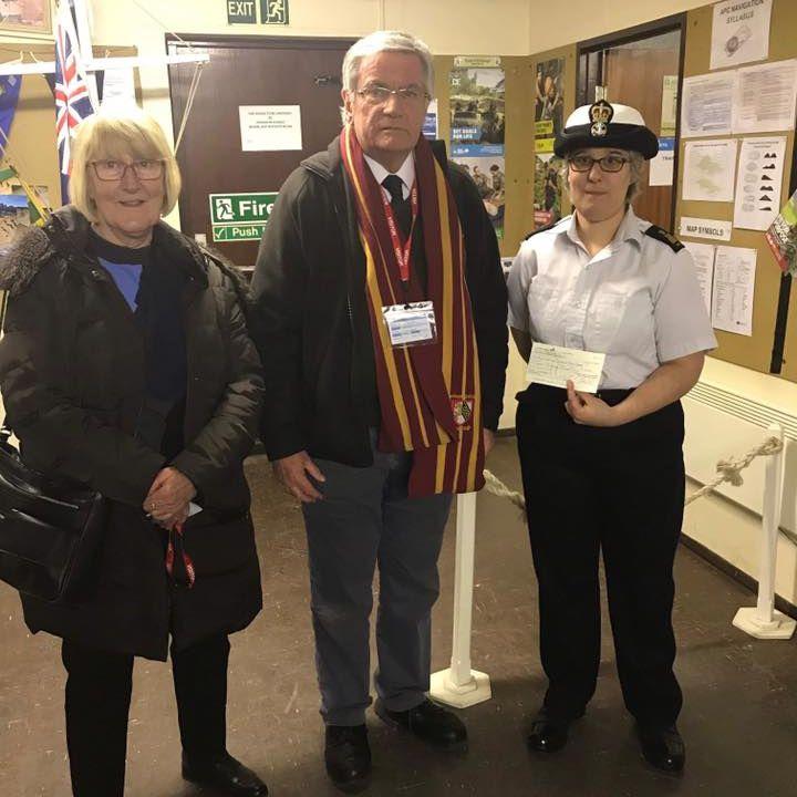 Cheque Donation by Huntingdon Rotary Club