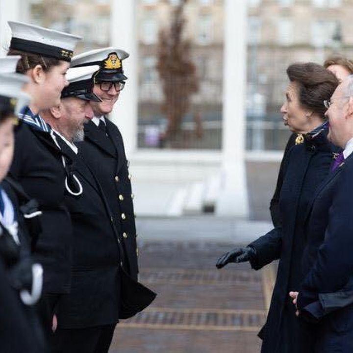 TS Glasgow Welcomes HRH The Princess Royal