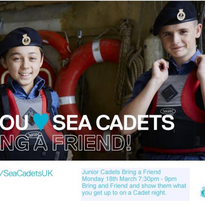 Junior Cadets Bring a Friend 18th March 2019