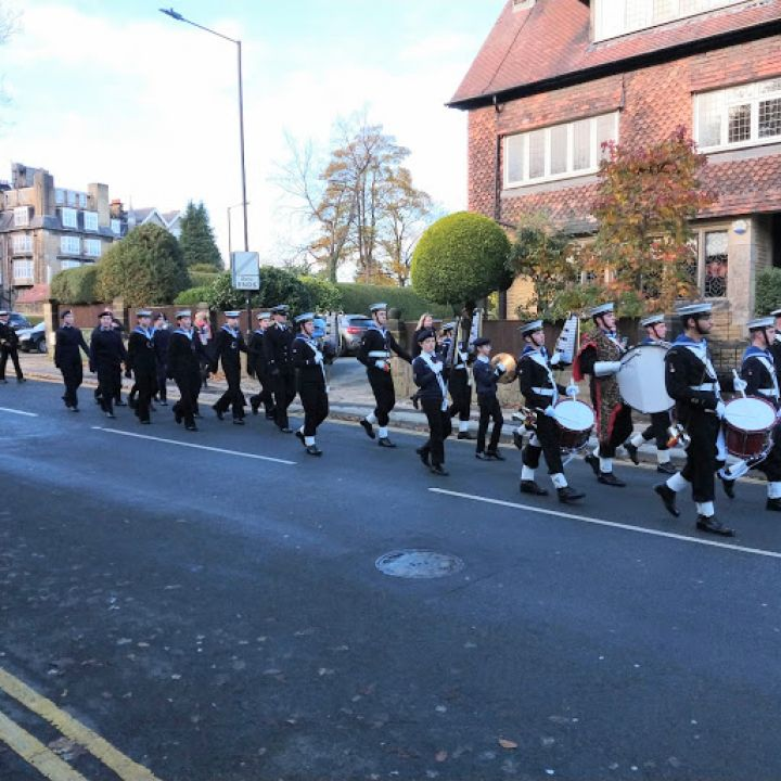 Harrogate and District Sea Cadet Corps marching back to the Unit HQ after Remembrance Sunday
