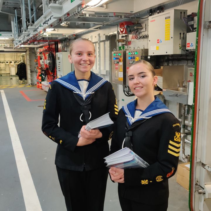 Sea Cadets on board HMS Prince of Wales