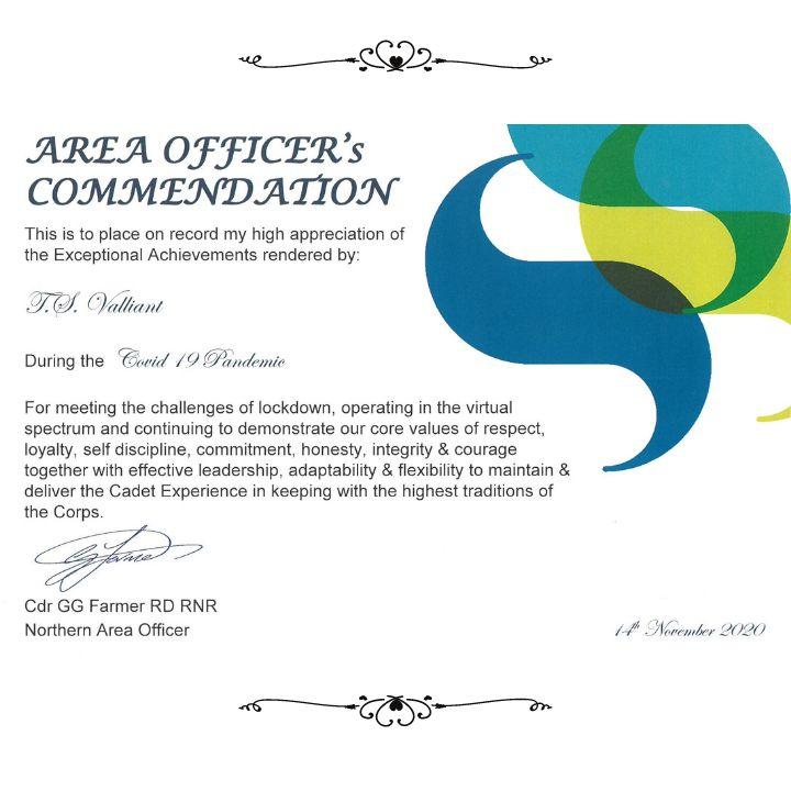 Area Officer Commendation
