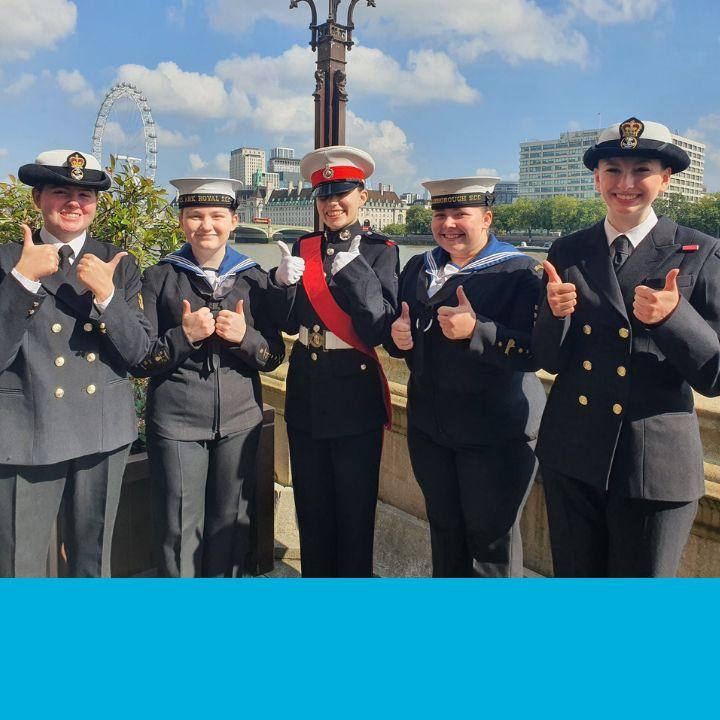 CVQO Westminster Award 2021 sea cadets finalists