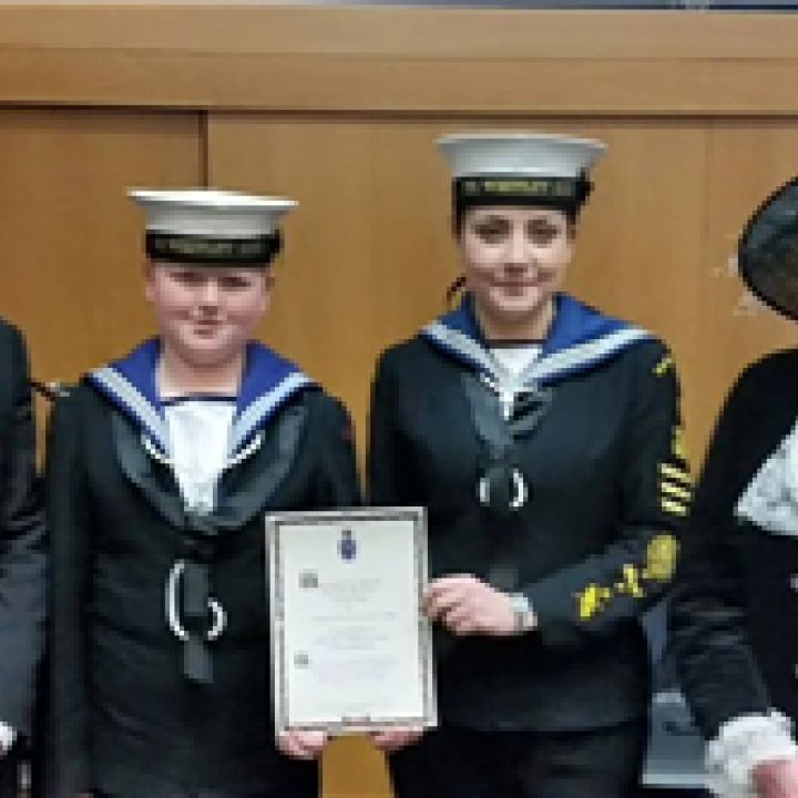 WHITLEY BAY SEA CADETS RECEIVE RECOGNITION FROM...