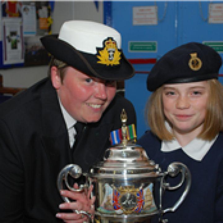 Sub Lt (SCC) Tracy Peel RNR wins The Captain...