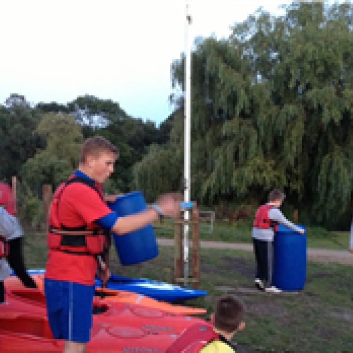 Cadet enjoy Raft Building at Mote Park