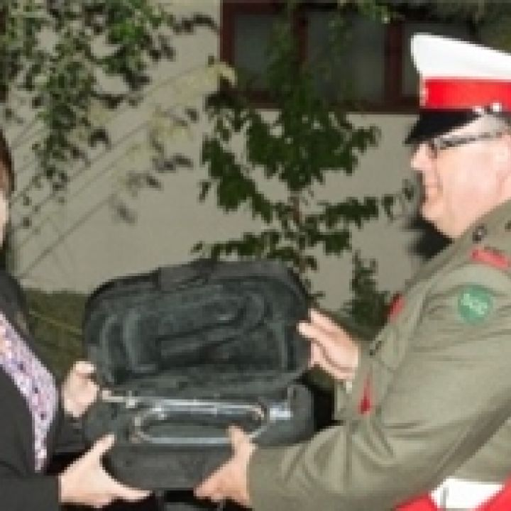 Donation of Silver Bugle
