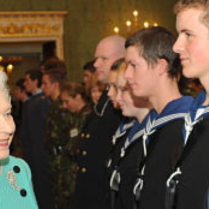 The Queen meets cadets in Northern Ireland
