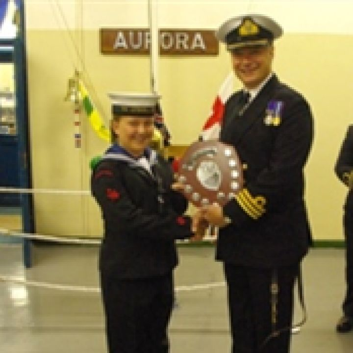 Ordinary Cadet rebecca Taylor is awarded the...