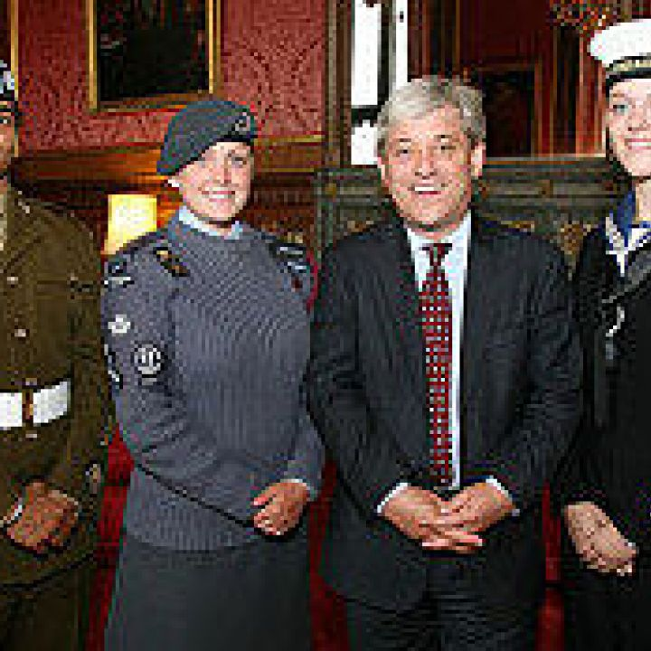 Cadets take tea with Speaker of House of Commons