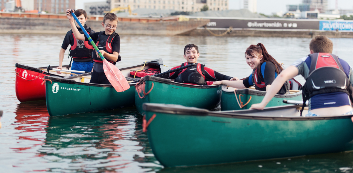 Junior sea cadets boating