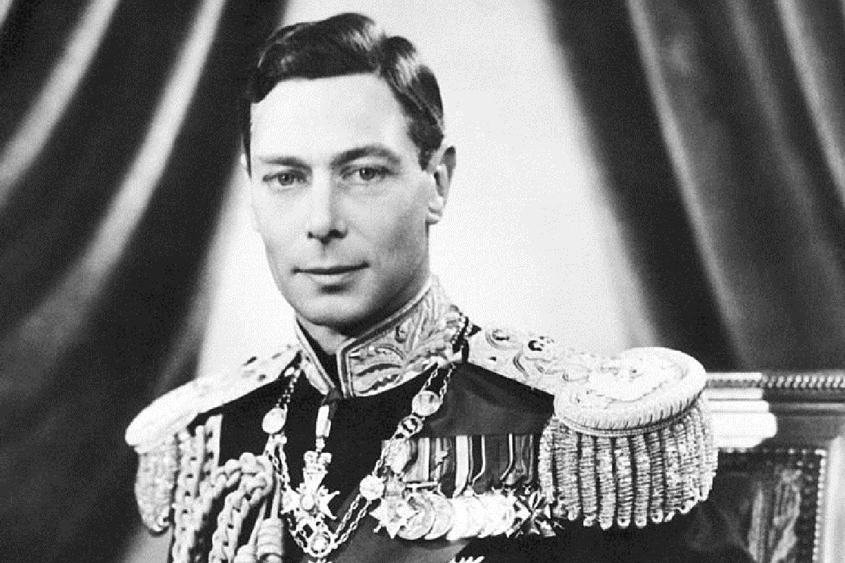 A portrait photograph of King George the sixth