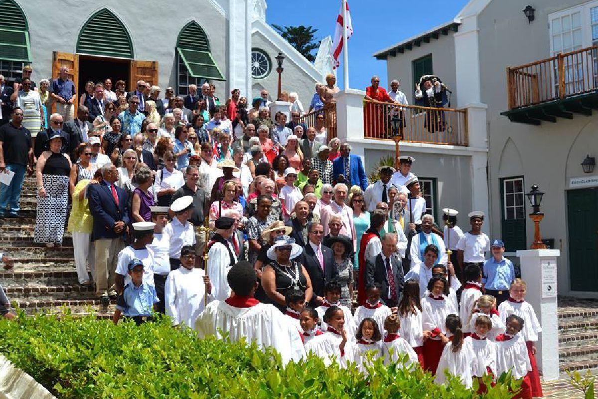The Bermuda Sea Cadets unit assembled by a church