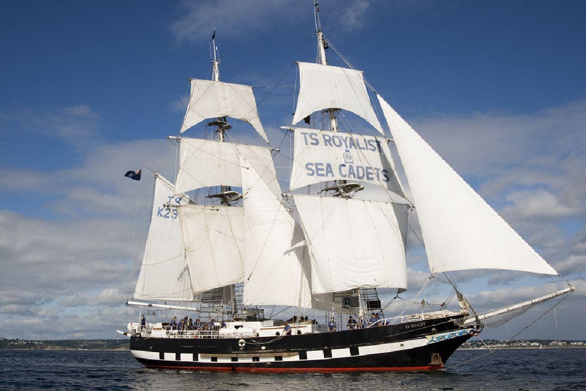 TS Royalist boat at sea