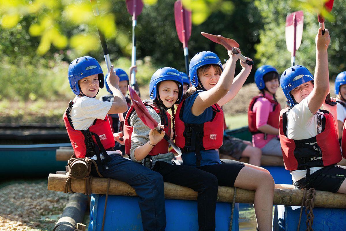 Junior Sea Cadets in a rowing practice activity