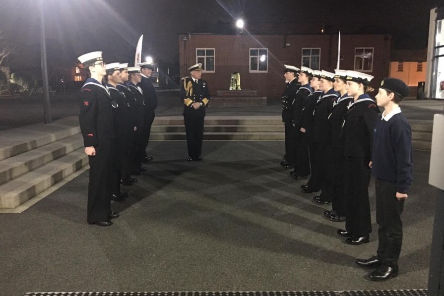 Welcoming the First Sea Lord
