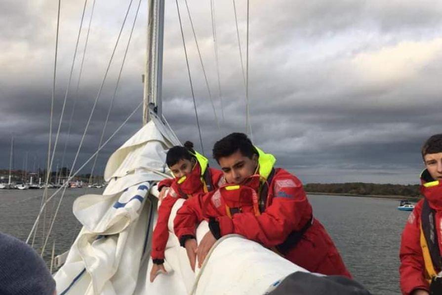 Flaking the sail